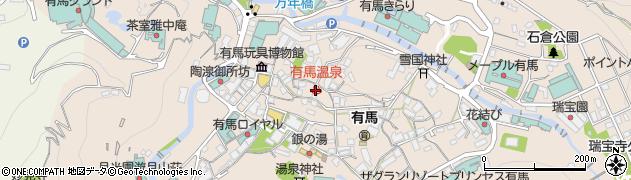 有馬温泉周辺の地図