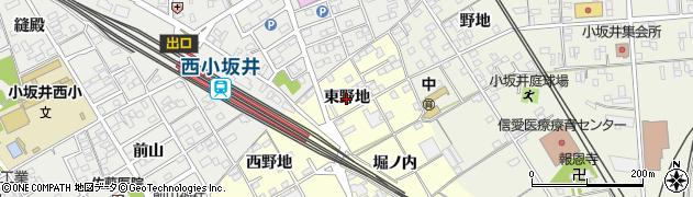 愛知県豊川市平井町(東野地)周辺の地図