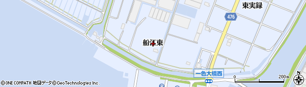 愛知県西尾市一色町小薮(船江東)周辺の地図