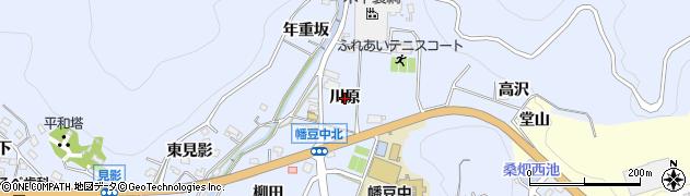 愛知県西尾市西幡豆町(川原)周辺の地図