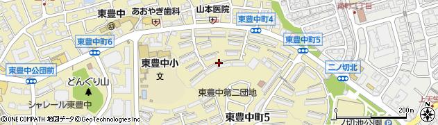 東豊中第2団地周辺の地図