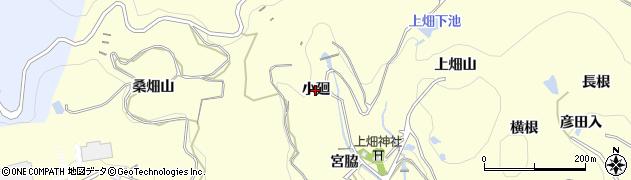 愛知県西尾市東幡豆町(小廻)周辺の地図