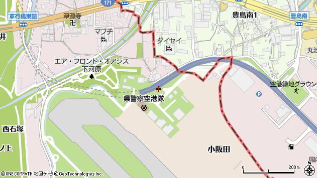 〒664-0833 兵庫県伊丹市小阪田都賀元の地図