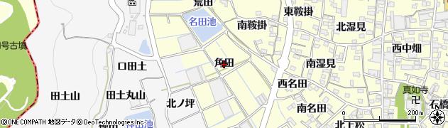 愛知県蒲郡市形原町(角田)周辺の地図