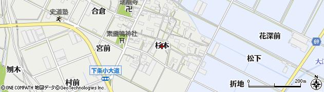 愛知県豊橋市下条西町(杉本)周辺の地図