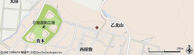愛知県豊橋市石巻町(乙北山)周辺の地図