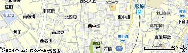 愛知県蒲郡市形原町(西中畑)周辺の地図