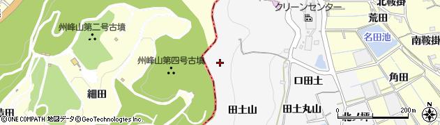愛知県蒲郡市西浦町(田土山)周辺の地図