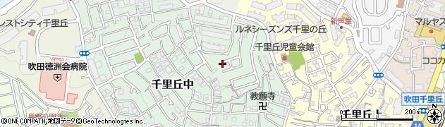 大阪府吹田市千里丘中周辺の地図