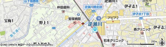 宝塚病院前周辺の地図