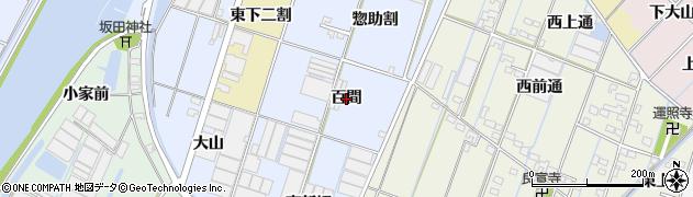 愛知県西尾市一色町藤江(百間)周辺の地図