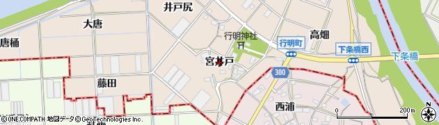 愛知県豊川市行明町(宮井戸)周辺の地図