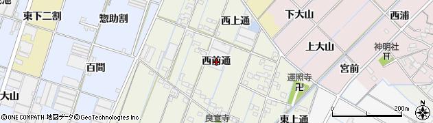 愛知県西尾市一色町酒手島(西前通)周辺の地図