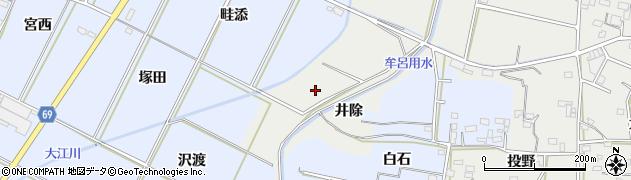 愛知県豊橋市石巻本町(井除)周辺の地図