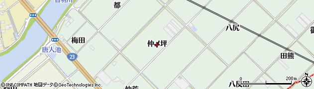 愛知県豊川市御津町下佐脇(仲ノ坪)周辺の地図