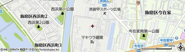 兵庫県姫路市飾磨区(英賀)周辺の地図