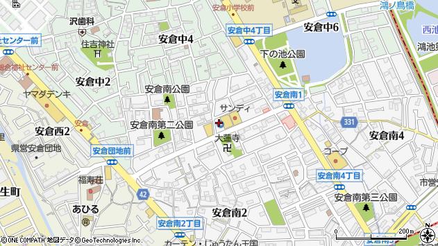 〒665-0823 兵庫県宝塚市安倉南の地図