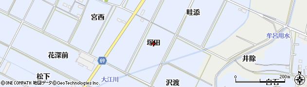 愛知県豊橋市下条東町(塚田)周辺の地図