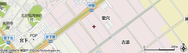 愛知県豊川市篠束町(栗穴)周辺の地図