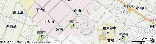 愛知県西尾市一色町惣五郎(屋敷)周辺の地図