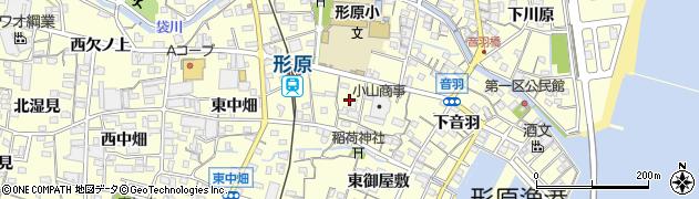 愛知県蒲郡市形原町(会下)周辺の地図