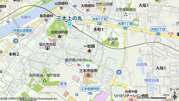 〒673-0432 兵庫県三木市上の丸町の地図