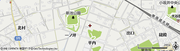 愛知県豊川市伊奈町周辺の地図