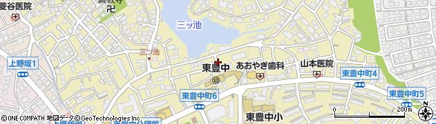 大阪府豊中市東豊中町周辺の地図