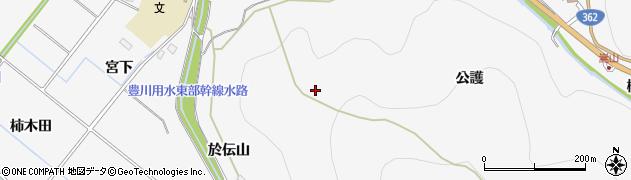 愛知県豊橋市嵩山町(於伝山)周辺の地図