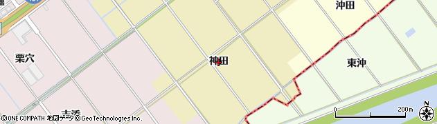 愛知県豊川市下長山町(神田)周辺の地図