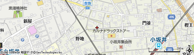 愛知県豊川市小坂井町周辺の地図