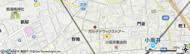 愛知県豊川市小坂井町(中野)周辺の地図