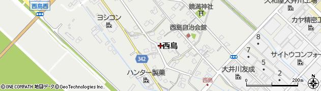 静岡県焼津市西島周辺の地図