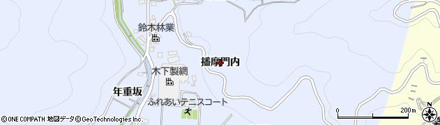 愛知県西尾市西幡豆町(播摩門内)周辺の地図