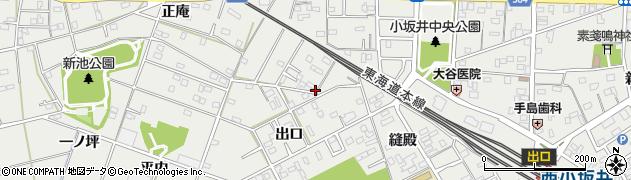 愛知県豊川市伊奈町(縫殿)周辺の地図