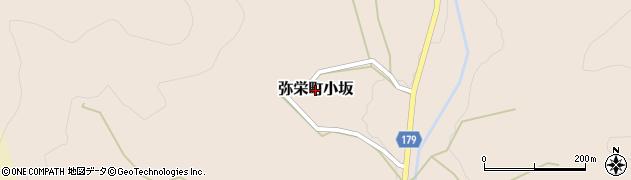 島根県浜田市弥栄町小坂周辺の地図