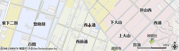 愛知県西尾市一色町酒手島(西上通)周辺の地図