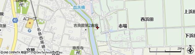 愛知県西尾市吉良町小山田(天神)周辺の地図