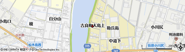 愛知県西尾市吉良町大島(上)周辺の地図