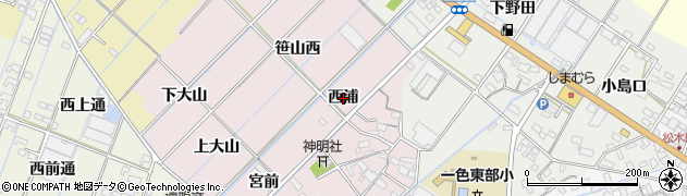 愛知県西尾市一色町惣五郎(西浦)周辺の地図
