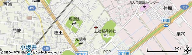 愛知県豊川市小坂井町(欠山)周辺の地図