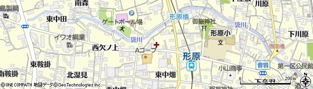 愛知県蒲郡市形原町(東欠ノ上)周辺の地図
