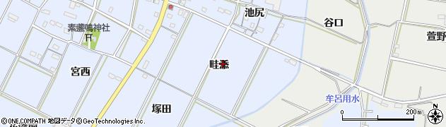 愛知県豊橋市下条東町(畦添)周辺の地図