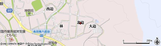 愛知県西尾市鳥羽町(北迫)周辺の地図