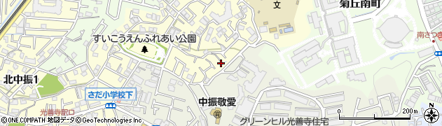 大阪府枚方市翠香園町周辺の地図