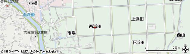 愛知県西尾市吉良町小山田(西浜田)周辺の地図