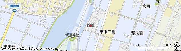愛知県西尾市一色町藤江(蛇池)周辺の地図