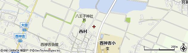 兵庫県加古川市西神吉町(西村)周辺の地図