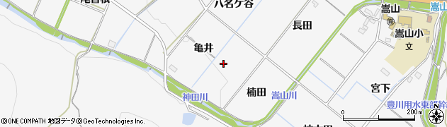 愛知県豊橋市嵩山町(亀井)周辺の地図