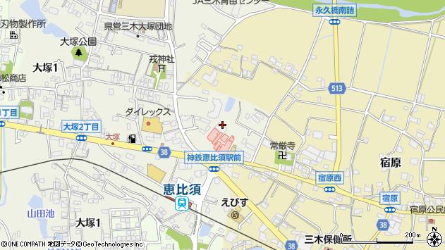 〒673-0413 兵庫県三木市大塚の地図